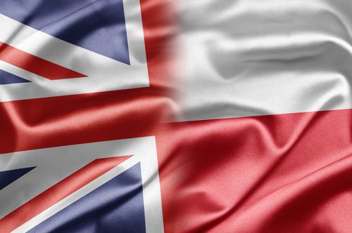 Polish and uk flag